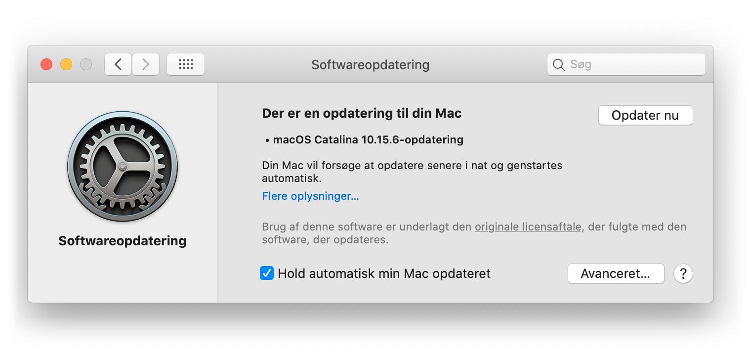 Sådan opdaterer du din macbook
