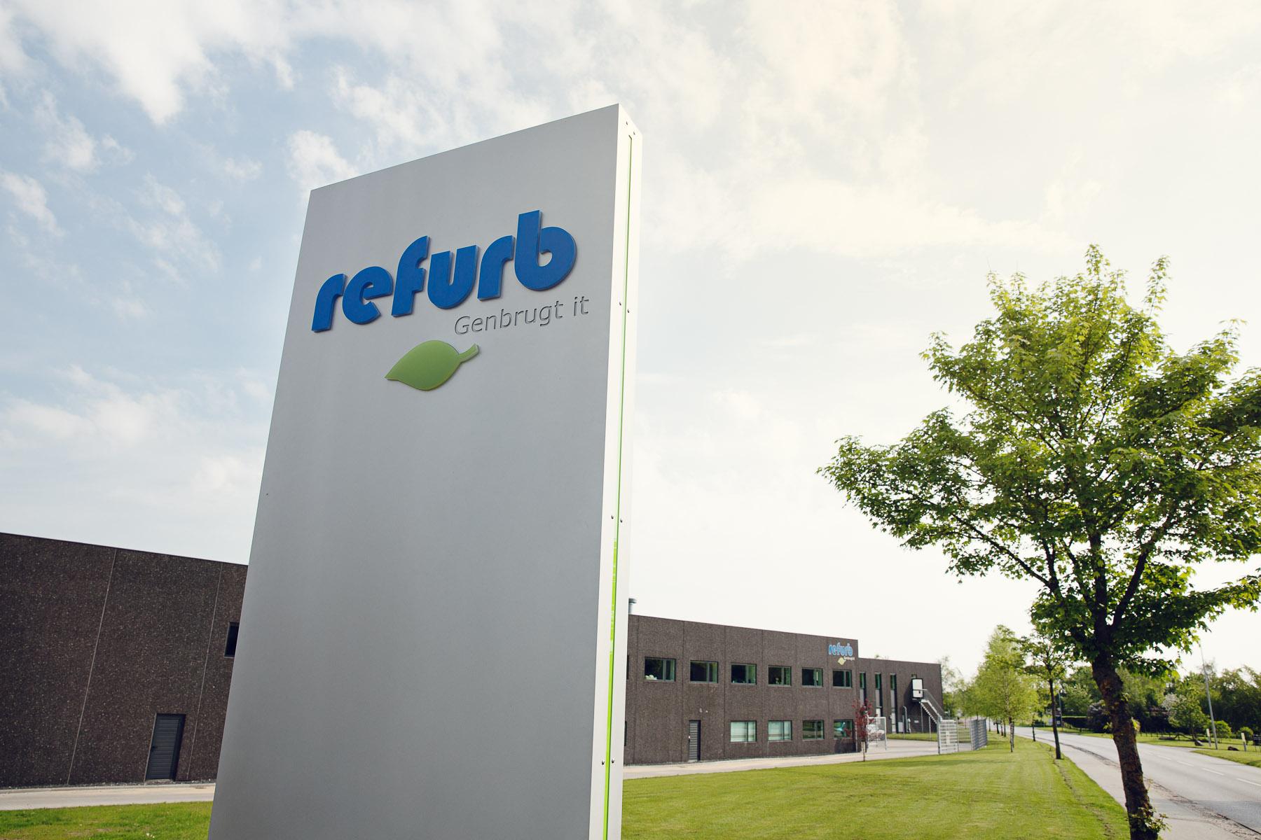 Refurb har et lager i Hornslet nord for Århus, Danmark