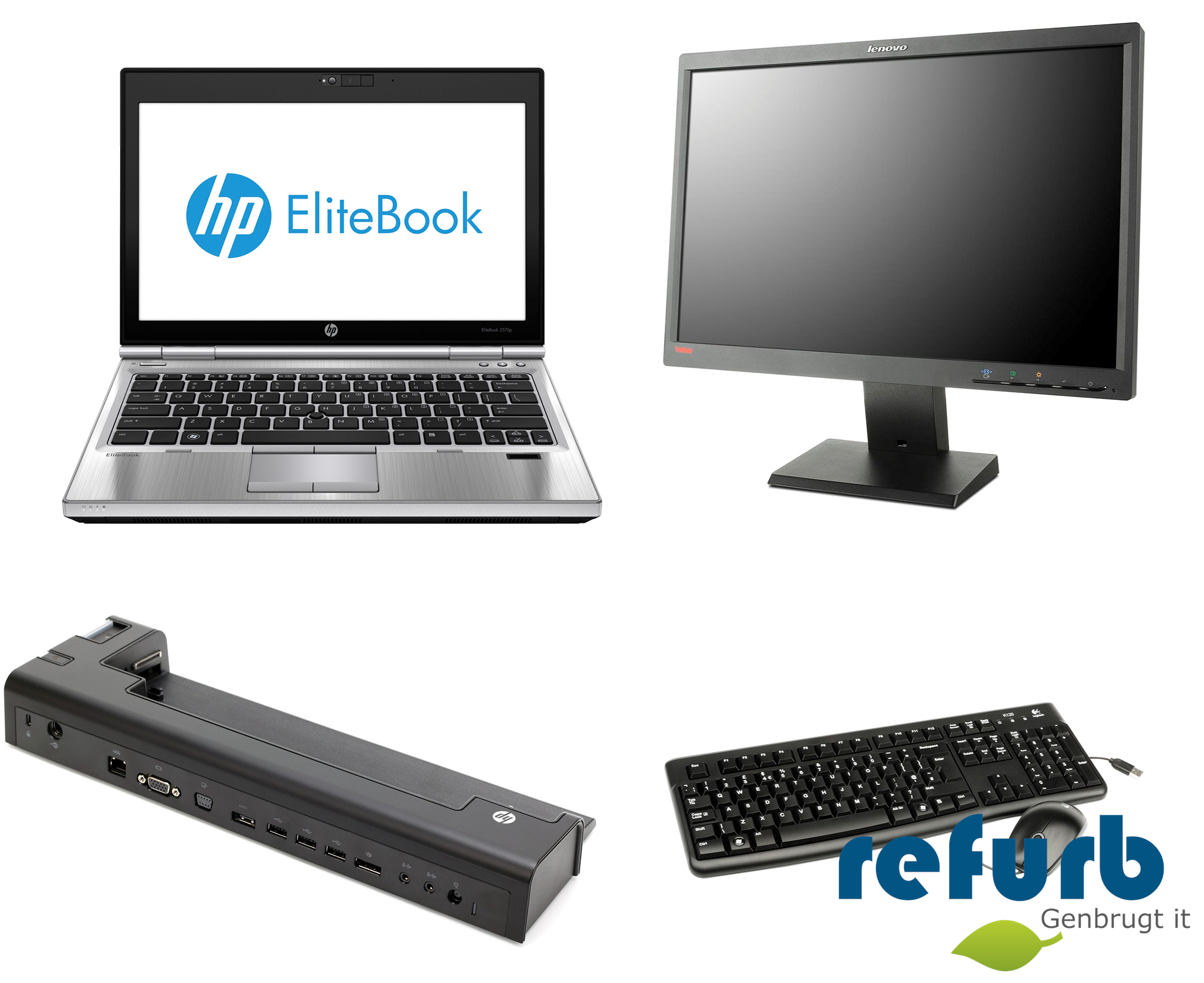 Hp elitebook 2570p kontorpakke fra Hp på refurb