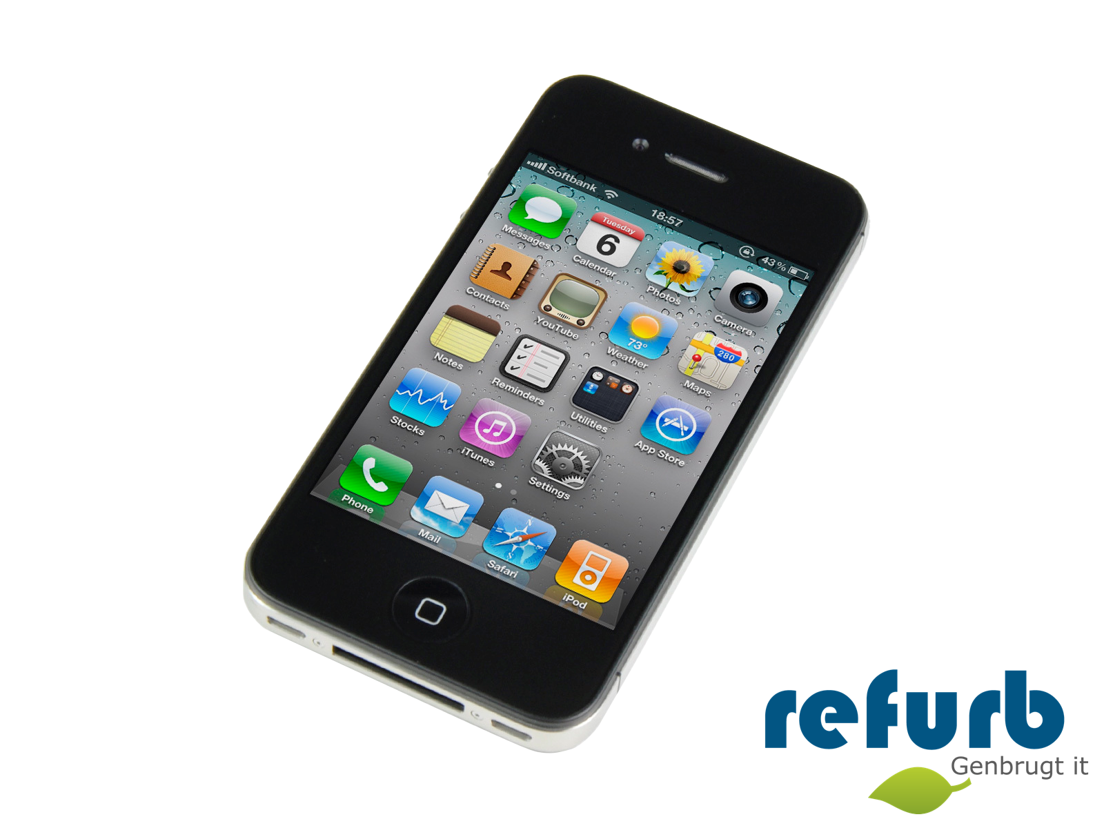 refurbished iphone 4s billig apple iphone 4s k 248 b genbrugt it af h 248 j kvalitet 12849
