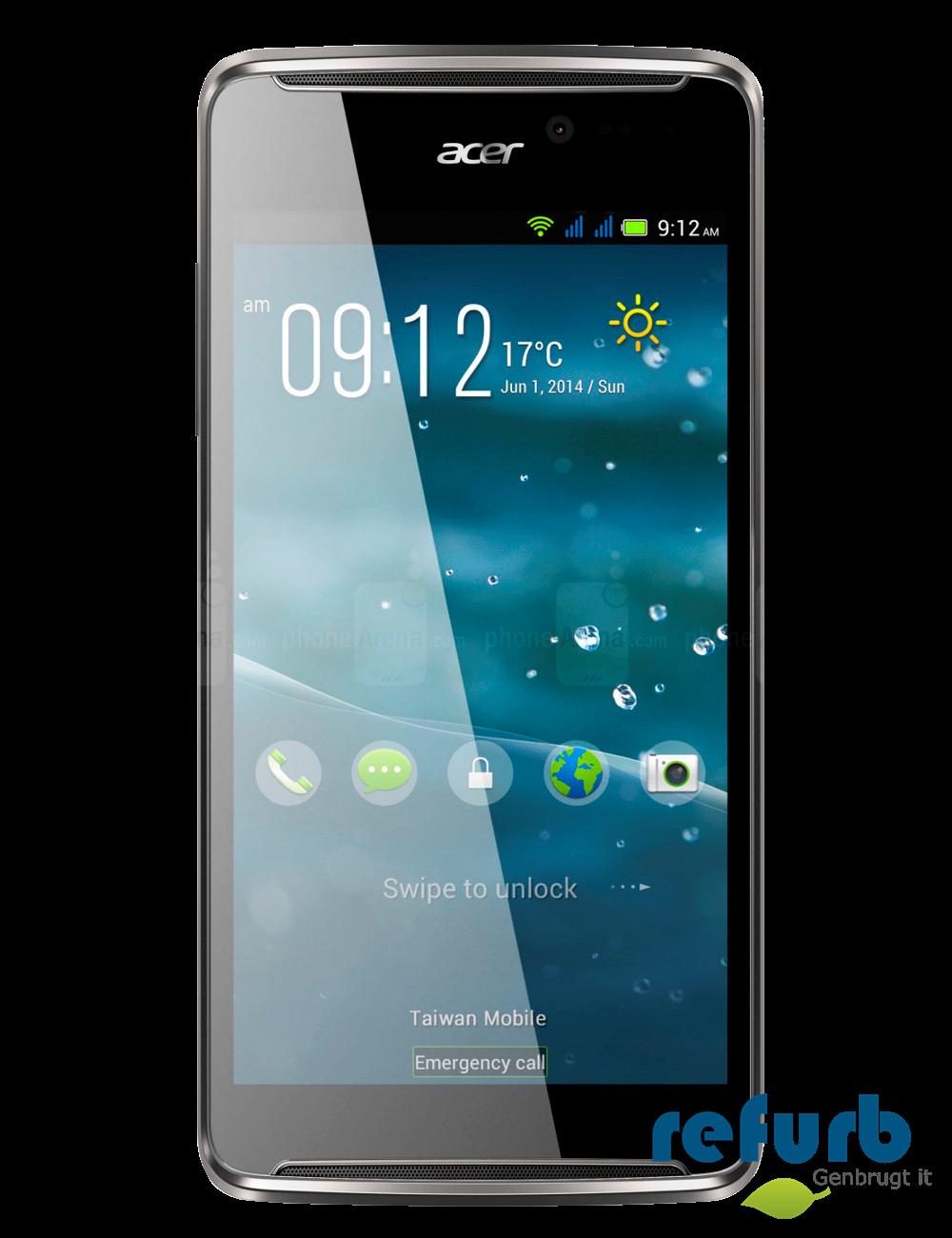 Acer Acer liquid e600 sort, grå, no danish os fra refurb