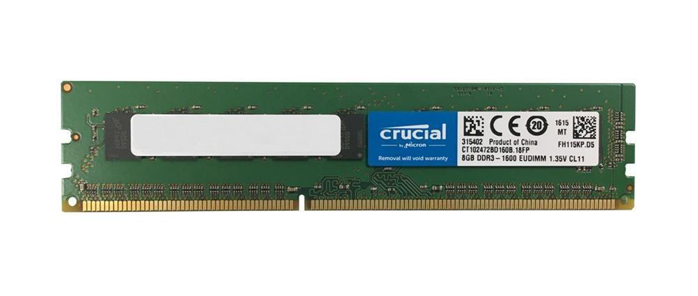 Image of   Crucial 8GB DDR3-1600 ECC UDIMM